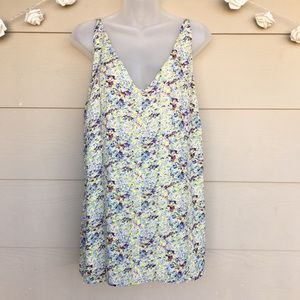 Cabi Tank Top Floral Scatter Print Cami Style 275